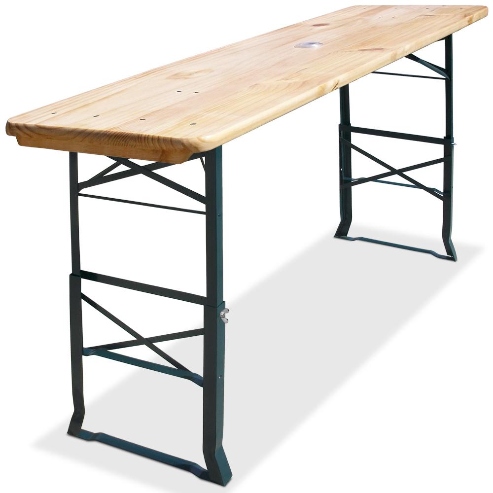 Bierstehtisch 180cm stehtisch holz bierzelttisch for Maison du monde table haute