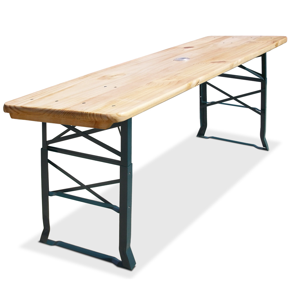 table en bois ext rieur pliable table haute 170cm table manger f tes ebay. Black Bedroom Furniture Sets. Home Design Ideas