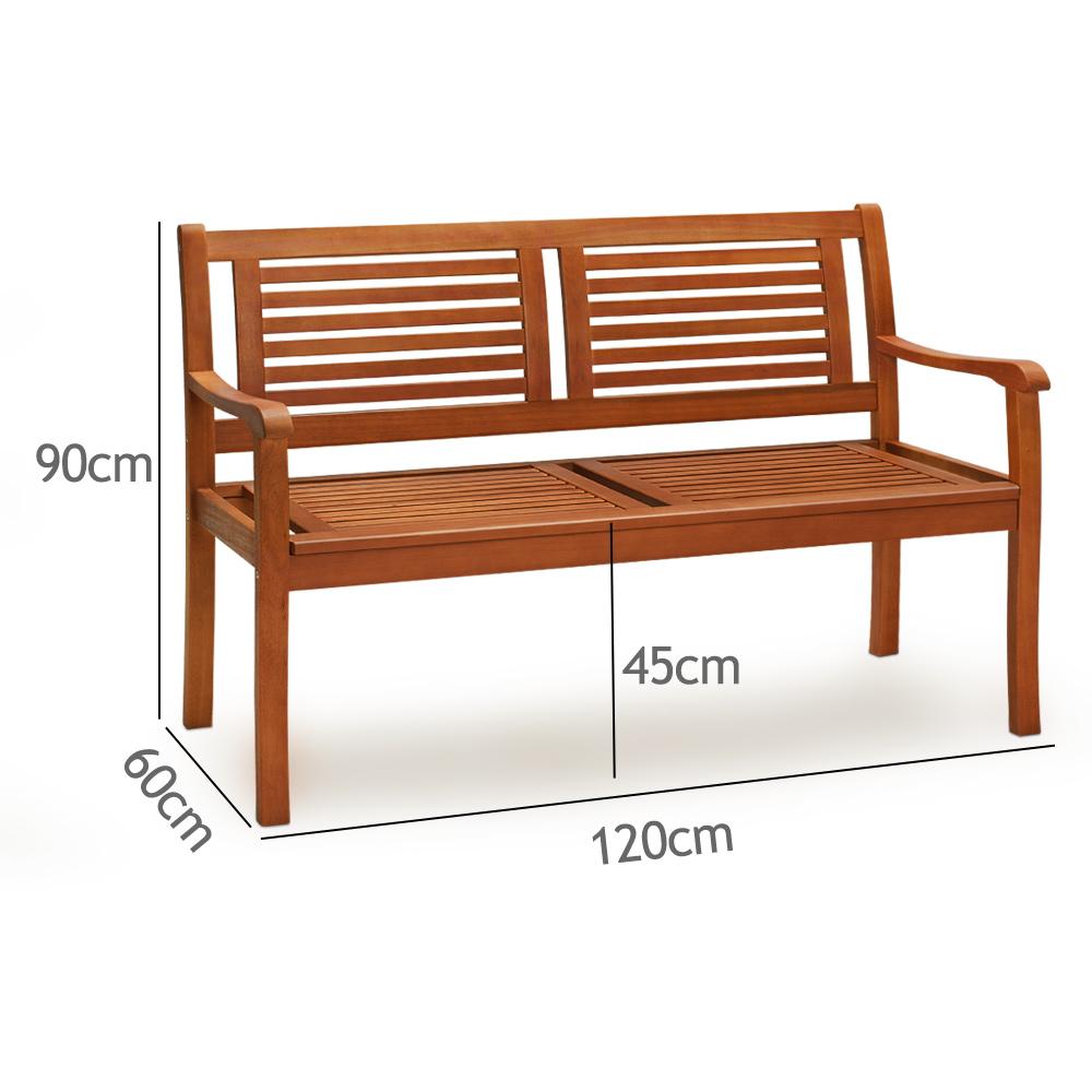 b ware gartenbank bank sitzbank holzbank parkbank gartenm bel eukalyptus ebay. Black Bedroom Furniture Sets. Home Design Ideas