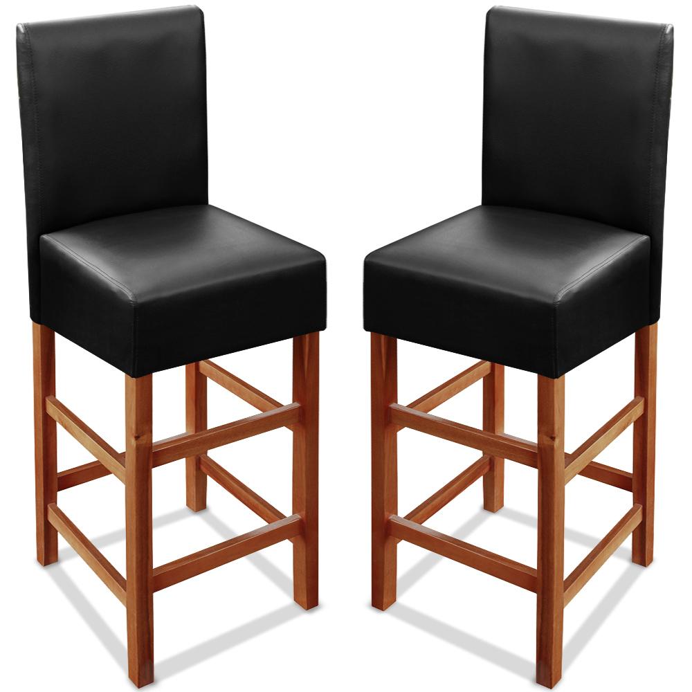 2er set barhocker stuhl barstuhl hocker tresenhocker mit for Barhocker 2er set holz