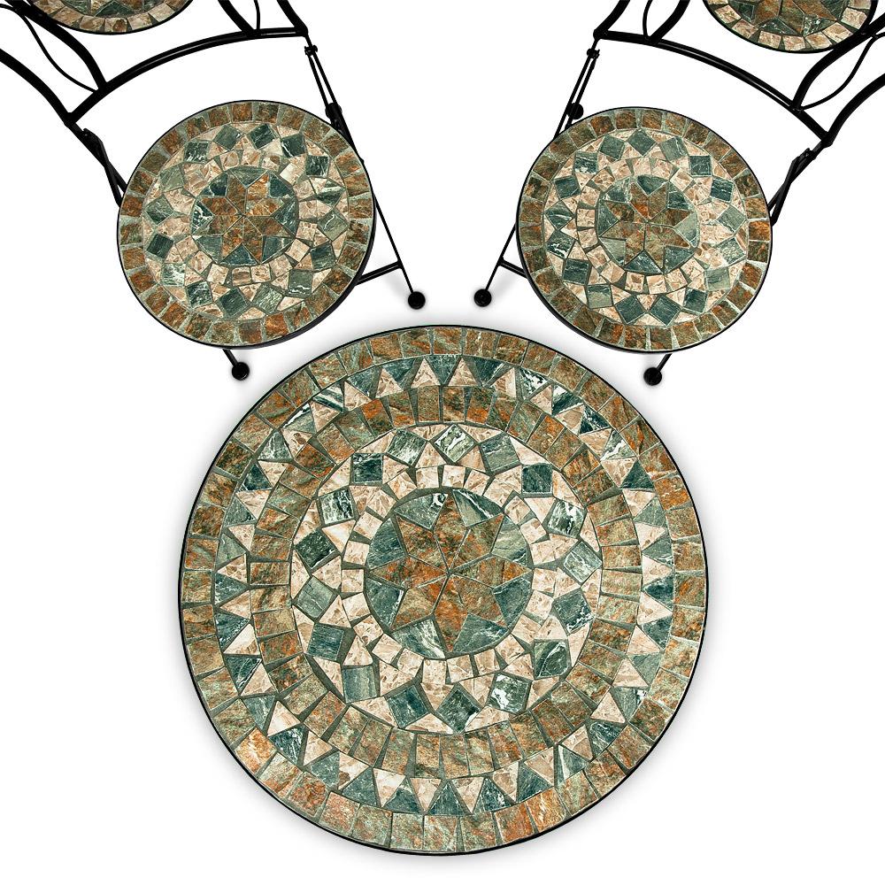 mosaik gartengarnitur sitzgarnitur gartenm bel sitzgruppe tisch bistrotisch set ebay. Black Bedroom Furniture Sets. Home Design Ideas