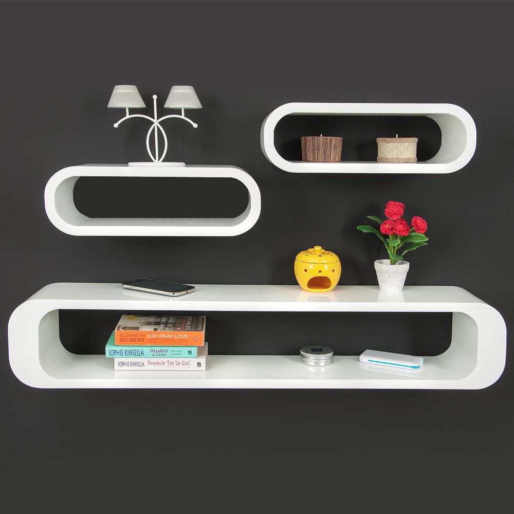 b ware 3er set wandregal cube regal hochglanz h ngeregal. Black Bedroom Furniture Sets. Home Design Ideas