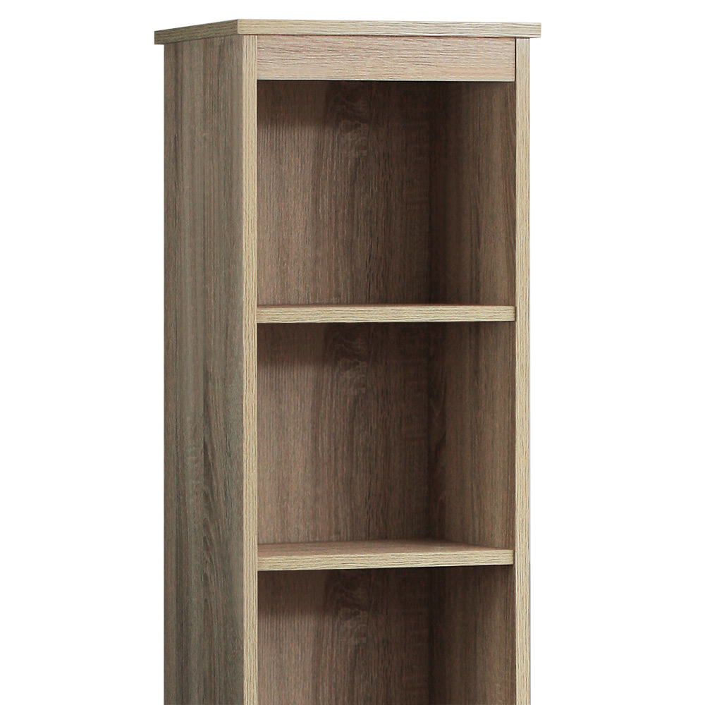 armoire haute de salle de bain avec 6 tag res et portes meuble rangement ebay. Black Bedroom Furniture Sets. Home Design Ideas