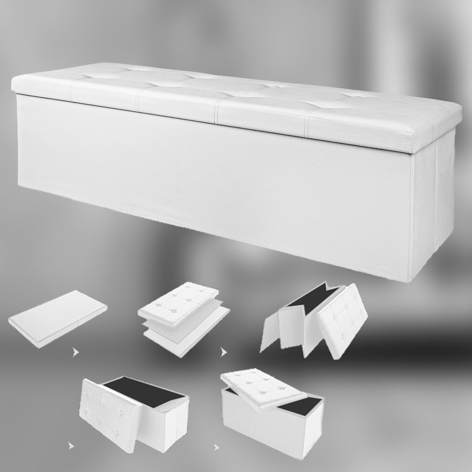 Xl Stool Seat Storage Ottoman Box Chest Trunk Large