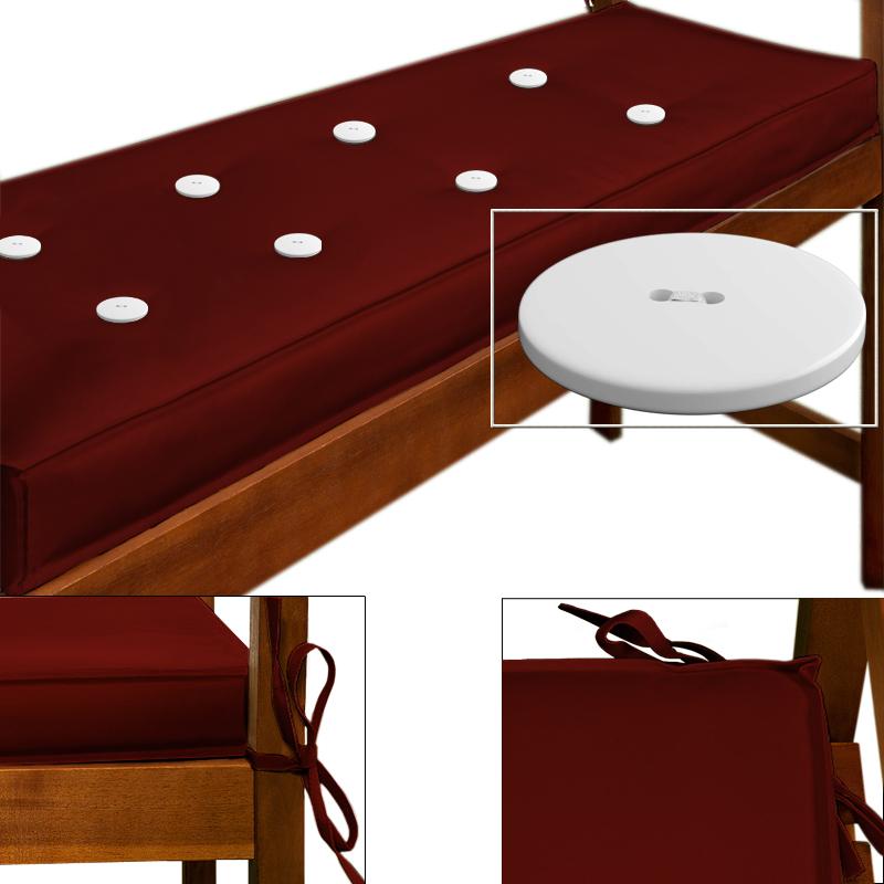 88101641 3er Sitzauflage 145 x 45 cm rot