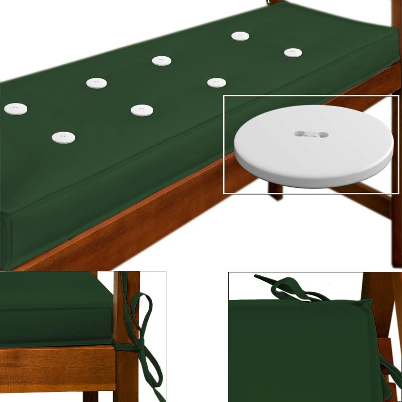88101643 3er Sitzauflage - 145 x 45 x 7 cm grün