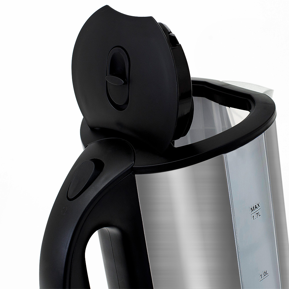 Bouilloire électrique 1,7L inox Sans BPA Avec éclairage intérieur LED bleu 2200W