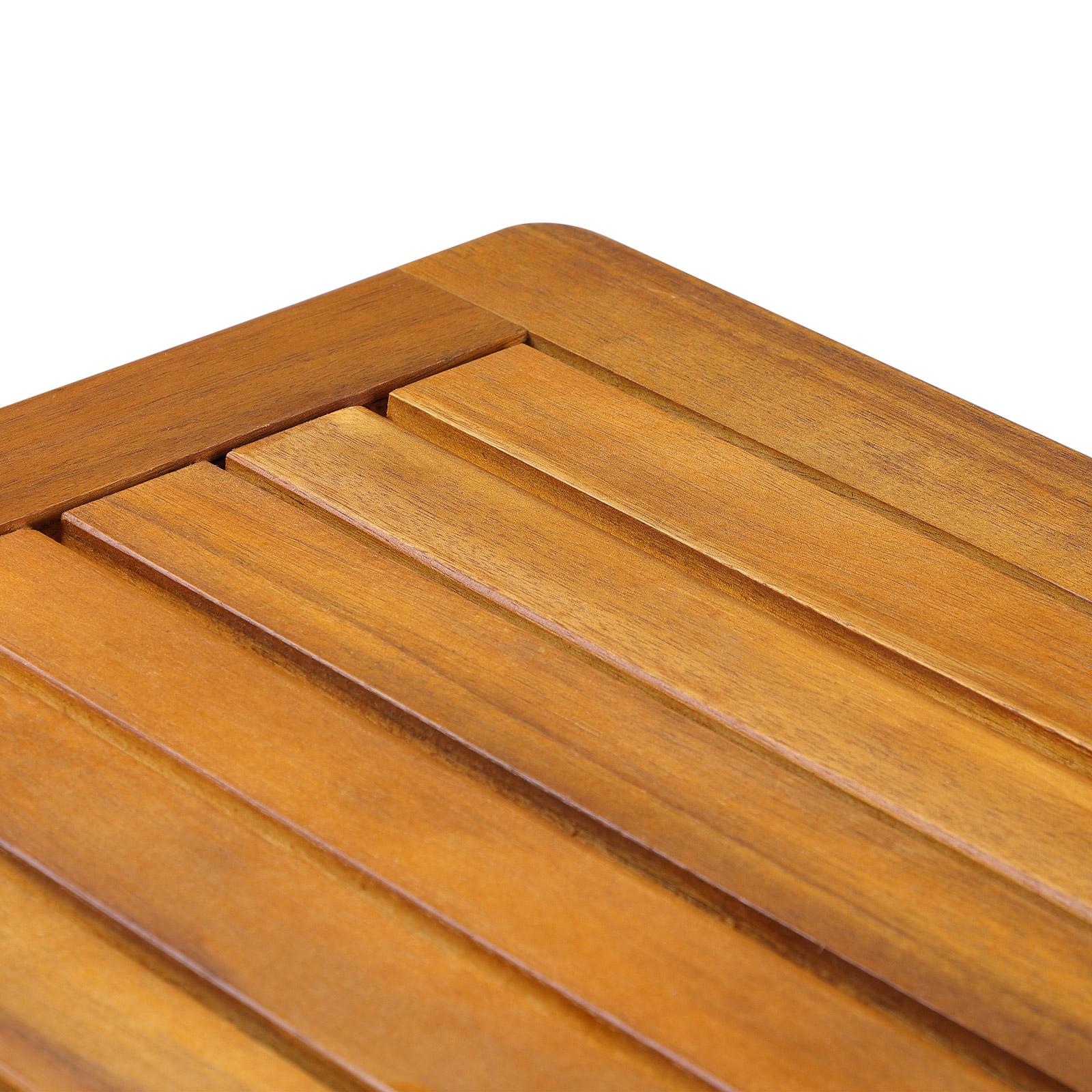 table basse jardin salon en bois d 39 acacia 45cm x 45cm x 45cm table d 39 appoint ebay. Black Bedroom Furniture Sets. Home Design Ideas