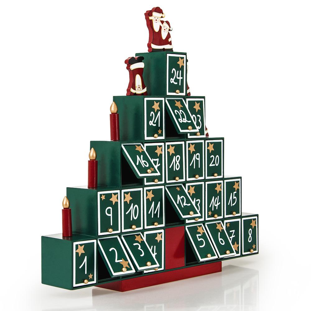 adventskalender weihnachtskalender holz weihnachten kalender weihnachtsdeko yg ebay. Black Bedroom Furniture Sets. Home Design Ideas