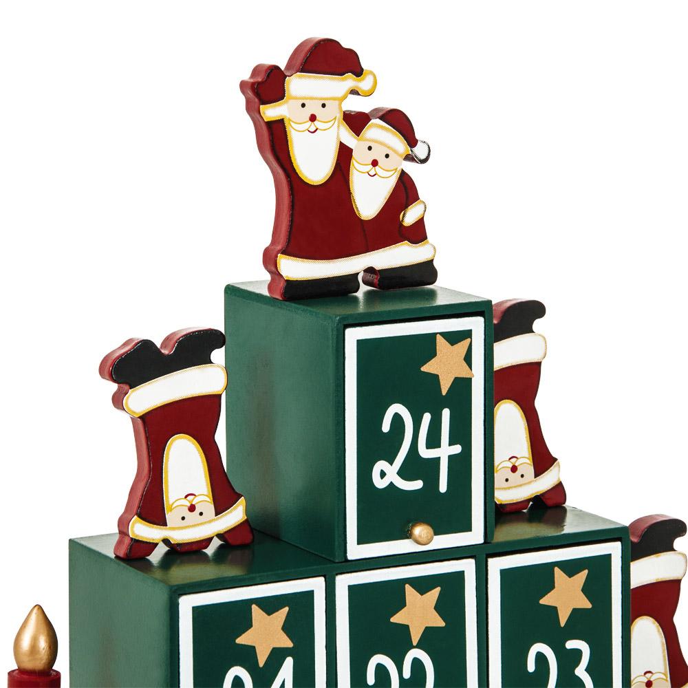calendrier de l 39 avent en bois remplir soi m me pyramide decoration noel ebay. Black Bedroom Furniture Sets. Home Design Ideas