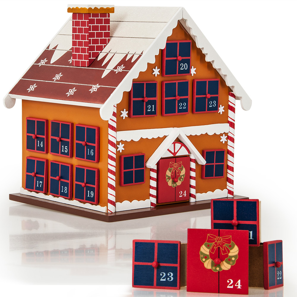 Advent Calendar Self Made : Advent calendar christmas decoration wood reusable