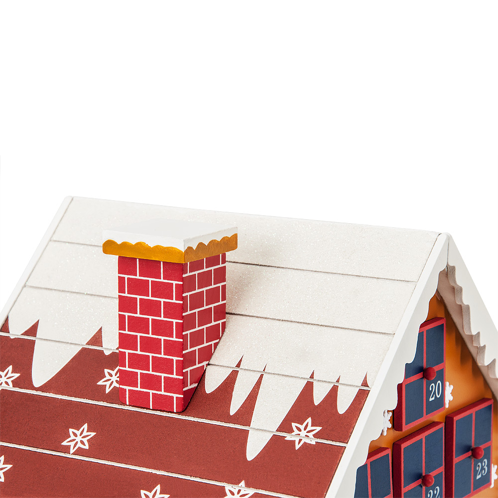 adventskalender zum bef llen holz haus h tte weihnachtskalender advent kalender ebay. Black Bedroom Furniture Sets. Home Design Ideas