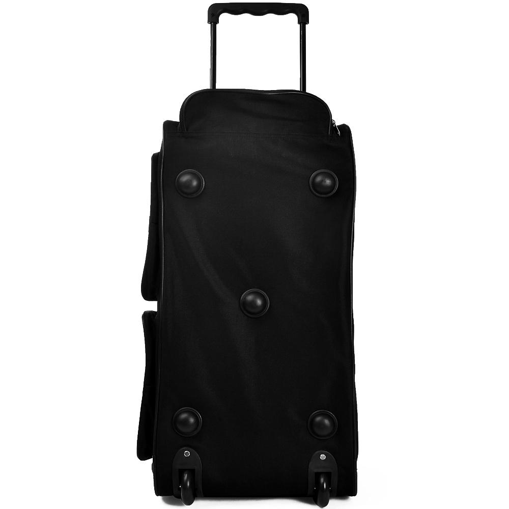 b ware trolley reisetasche sporttasche tasche mit rollen trolleyfunktion schwarz ebay. Black Bedroom Furniture Sets. Home Design Ideas