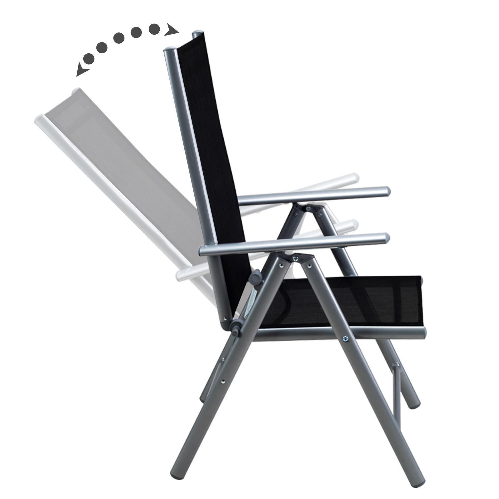 sitzgruppe alu gartenm bel aluminium garten essgruppe tisch klappstuhl set 8 1 ebay
