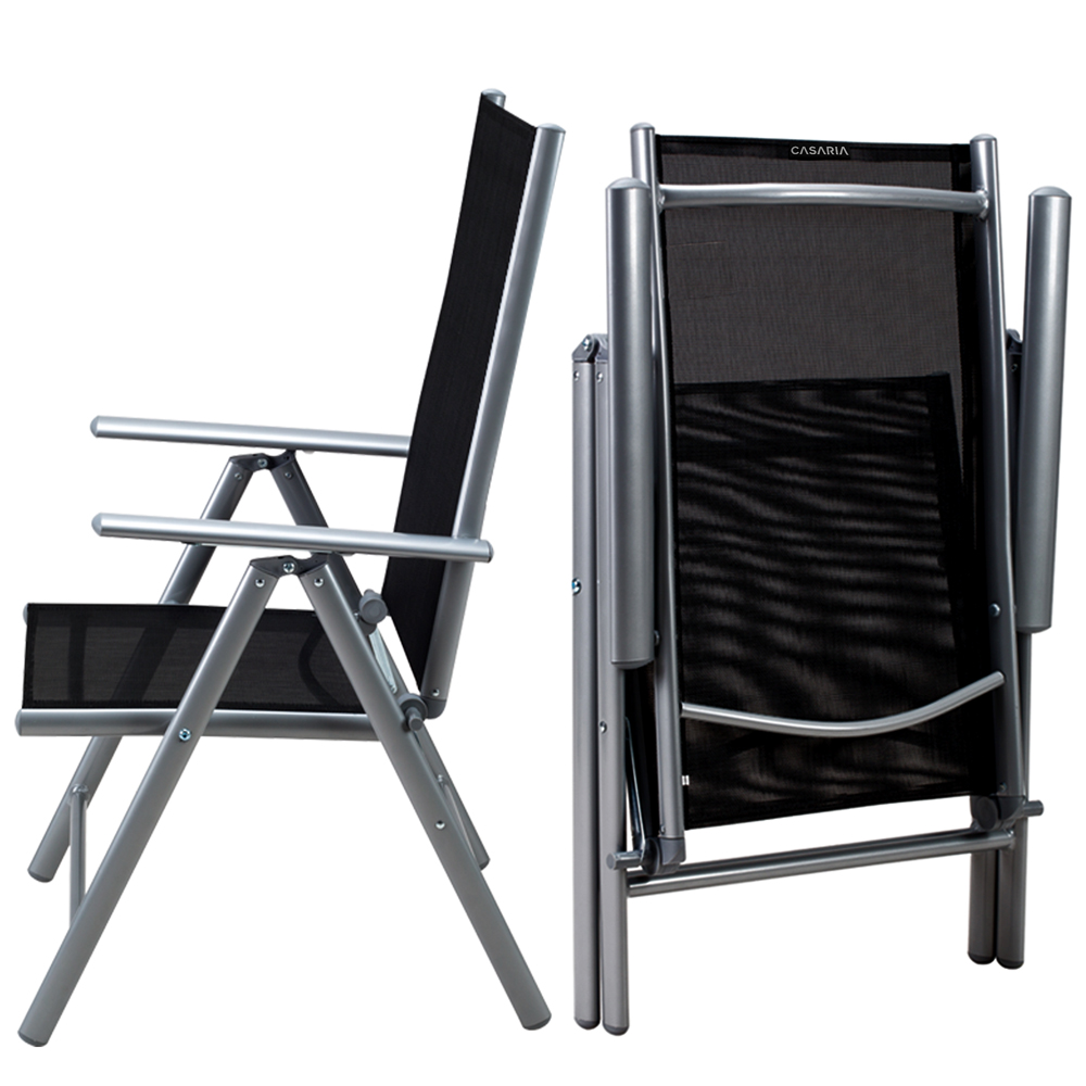 Détails sur CASARIA® Salon de jardin aluminium »Bern« 1 table 8 chaises  différentes couleurs