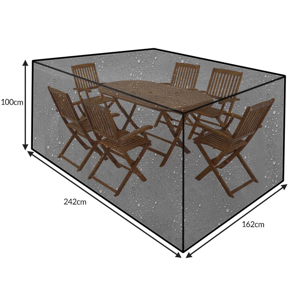 b che de protection housse 242x162x100 cm vert pour meubles salon de jardin ebay. Black Bedroom Furniture Sets. Home Design Ideas