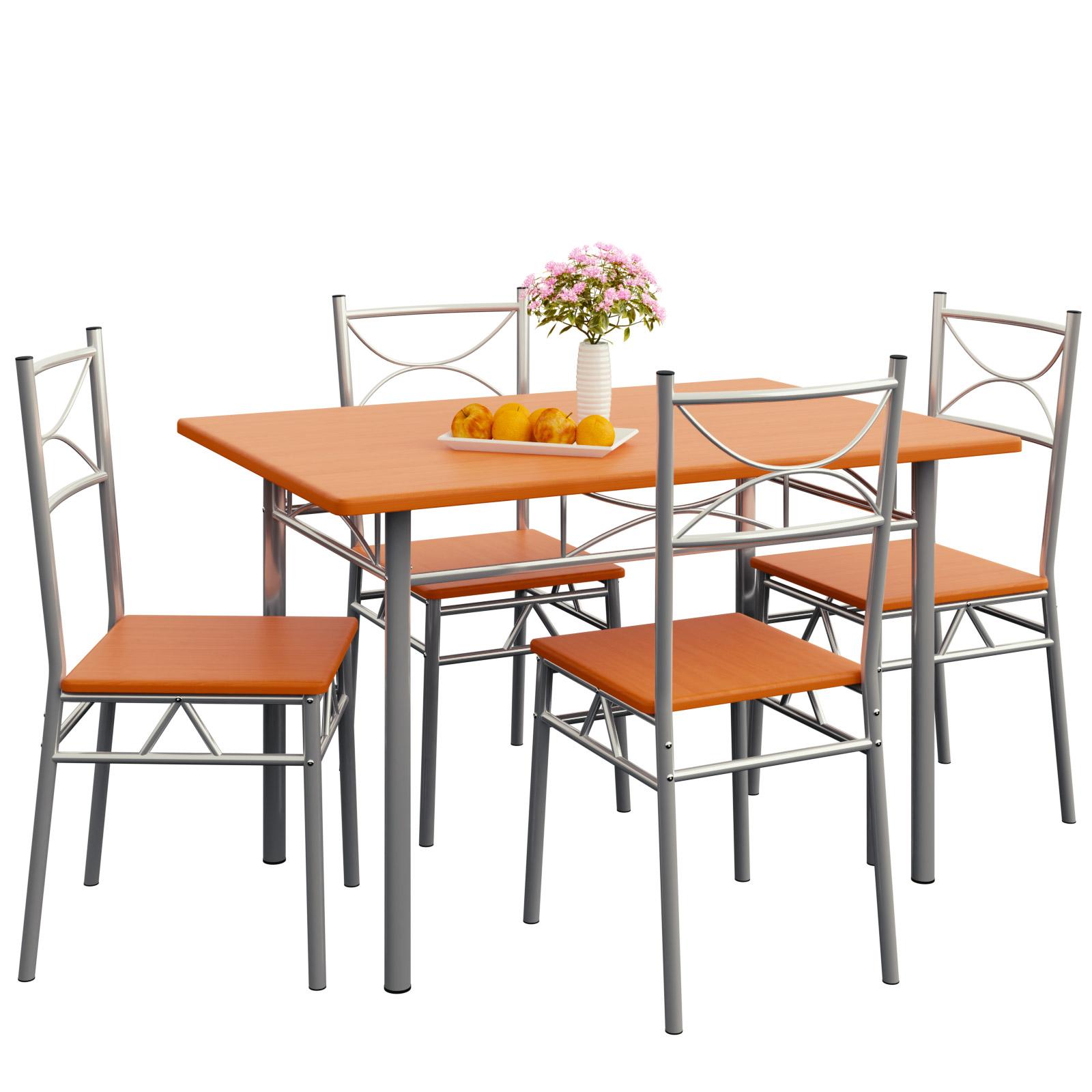 Essgruppe Esstisch Küchentisch Mit 4 Stühlen Sitzgruppe