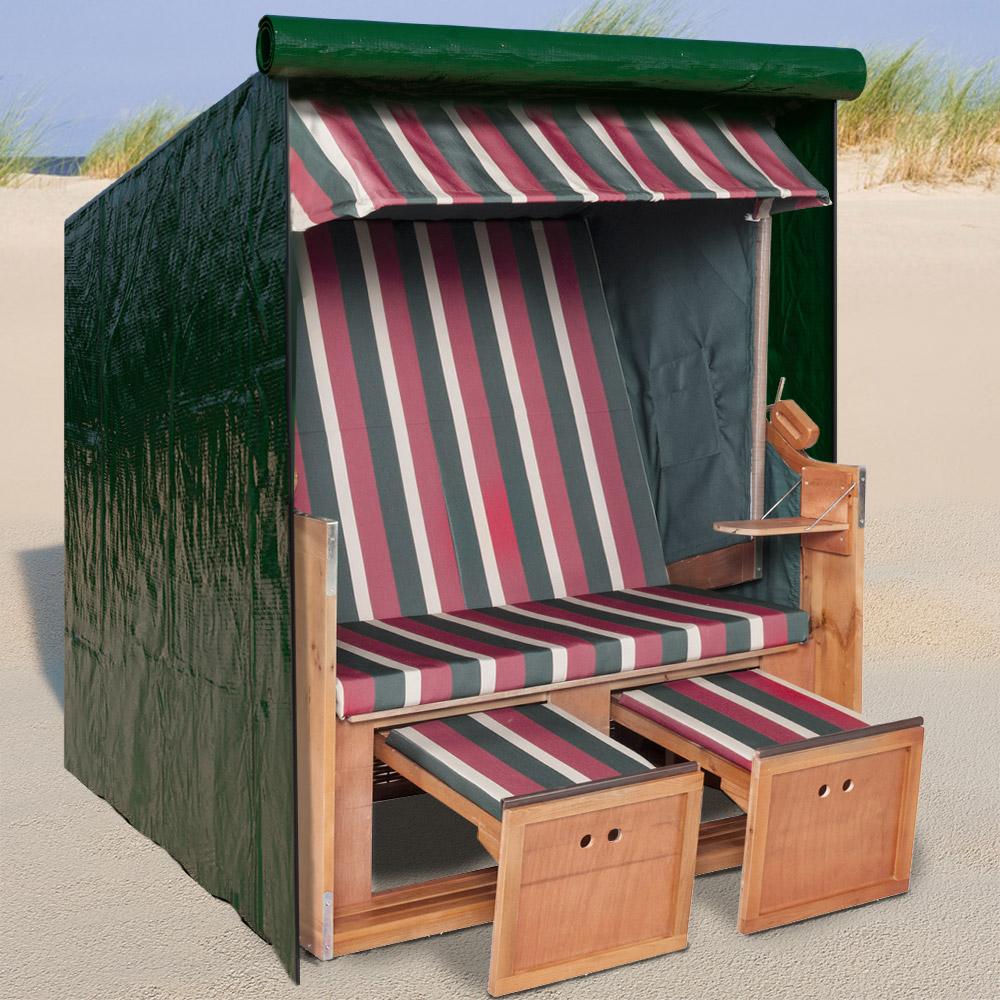 strandkorb schutzh lle abdeckung plane schutzhaube strandkorbh lle 165x125x90 ebay. Black Bedroom Furniture Sets. Home Design Ideas