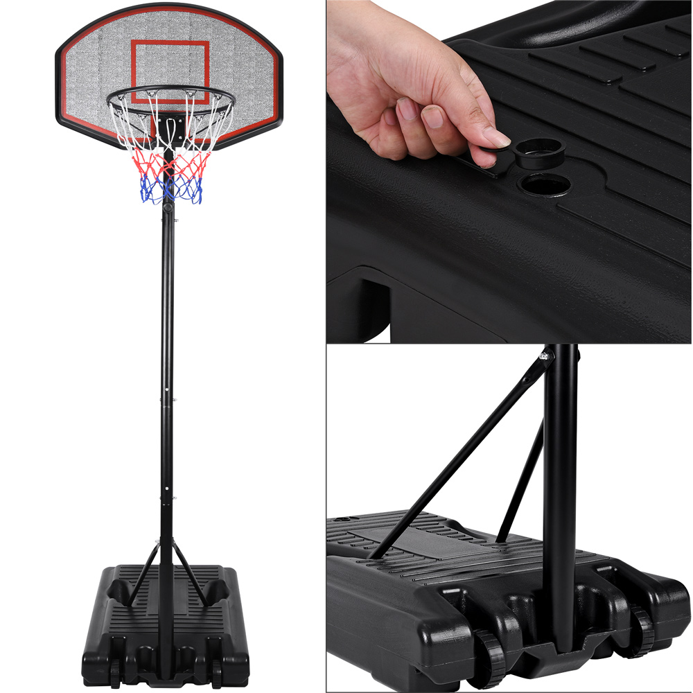 basketballkorb basketballst nder board basketball korb mit st nder brett 305cm ebay. Black Bedroom Furniture Sets. Home Design Ideas