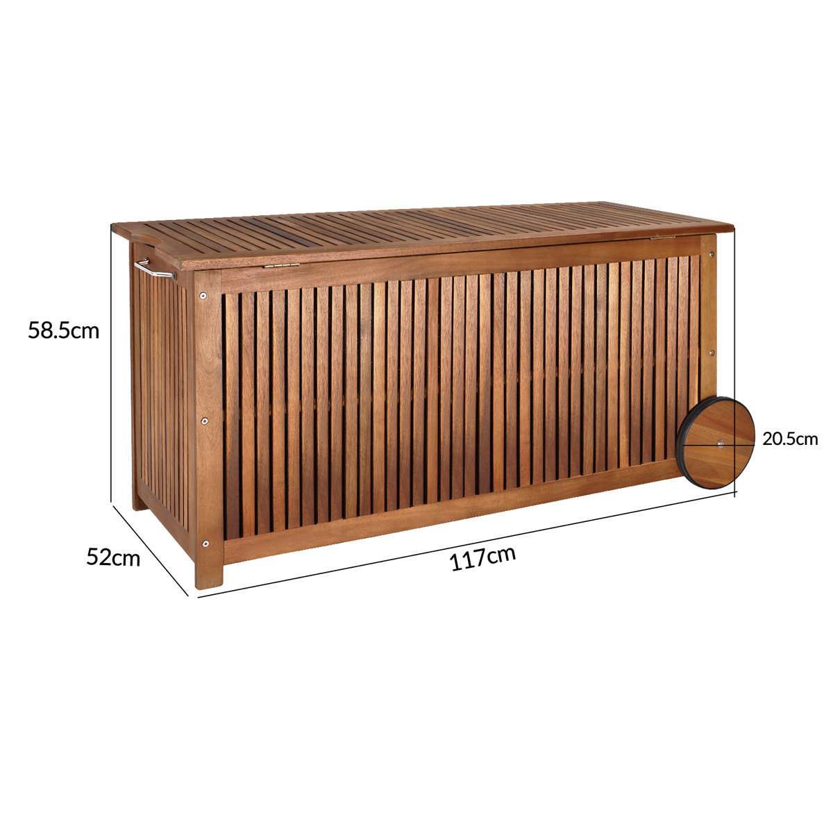 auflagenbox holztruhe gartenbox gartentruhe kissenbox truhe holz 117cm holzbox ebay. Black Bedroom Furniture Sets. Home Design Ideas