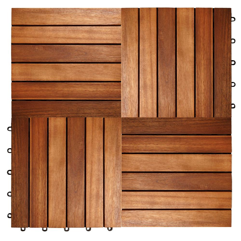 Dalles De Bois Pour Jardin détails sur 33x dalles de terrasse en bois d'acacia pour 3m² - 30 x 30 cm  jardin extérieur