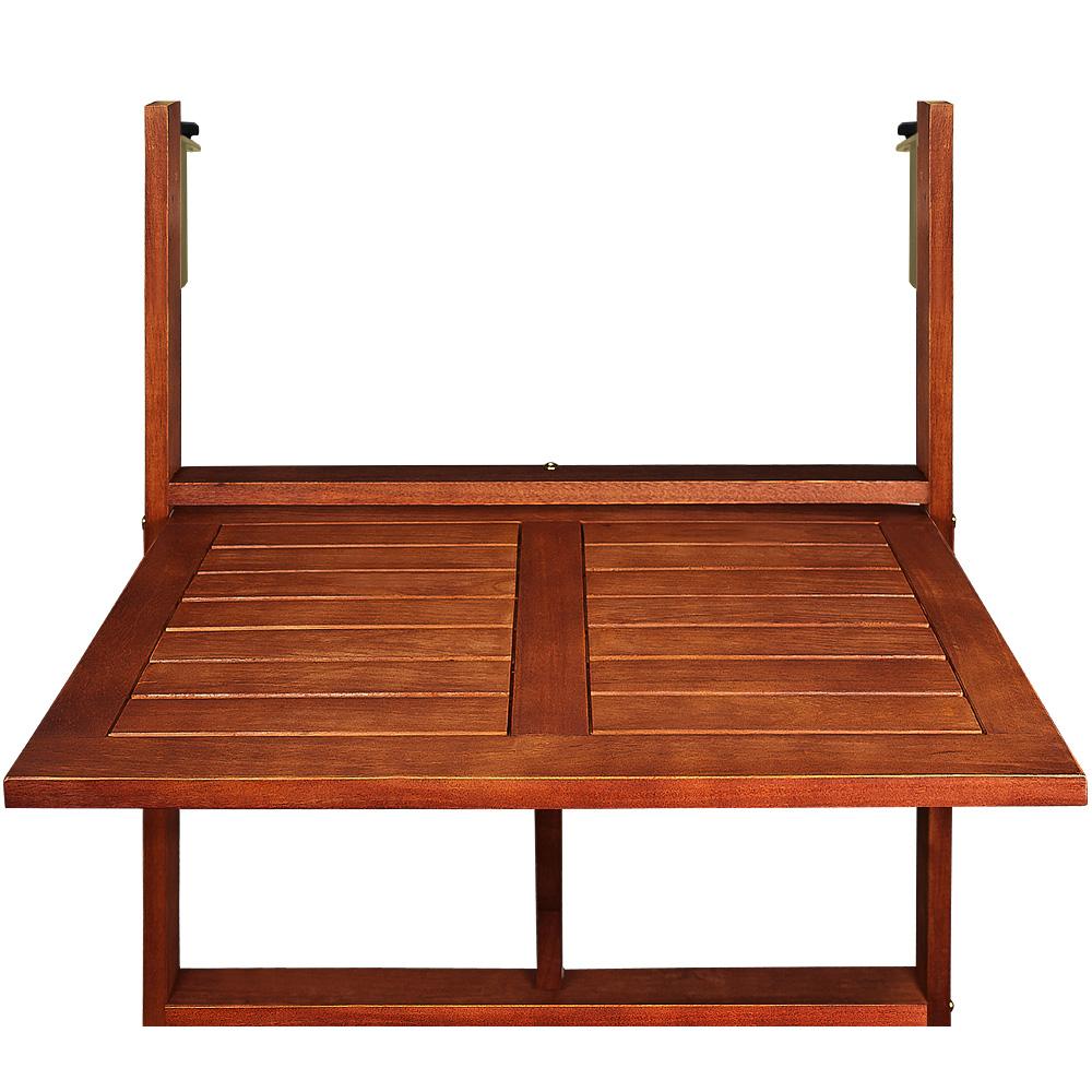balkontisch h ngetisch balkonh ngetisch tisch klapptisch klappbar akazie holz ebay. Black Bedroom Furniture Sets. Home Design Ideas