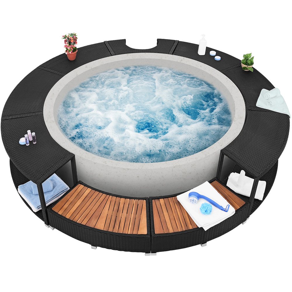 bordure de spa bain remous rebord bain bulles lay z cadre de piscine ebay. Black Bedroom Furniture Sets. Home Design Ideas