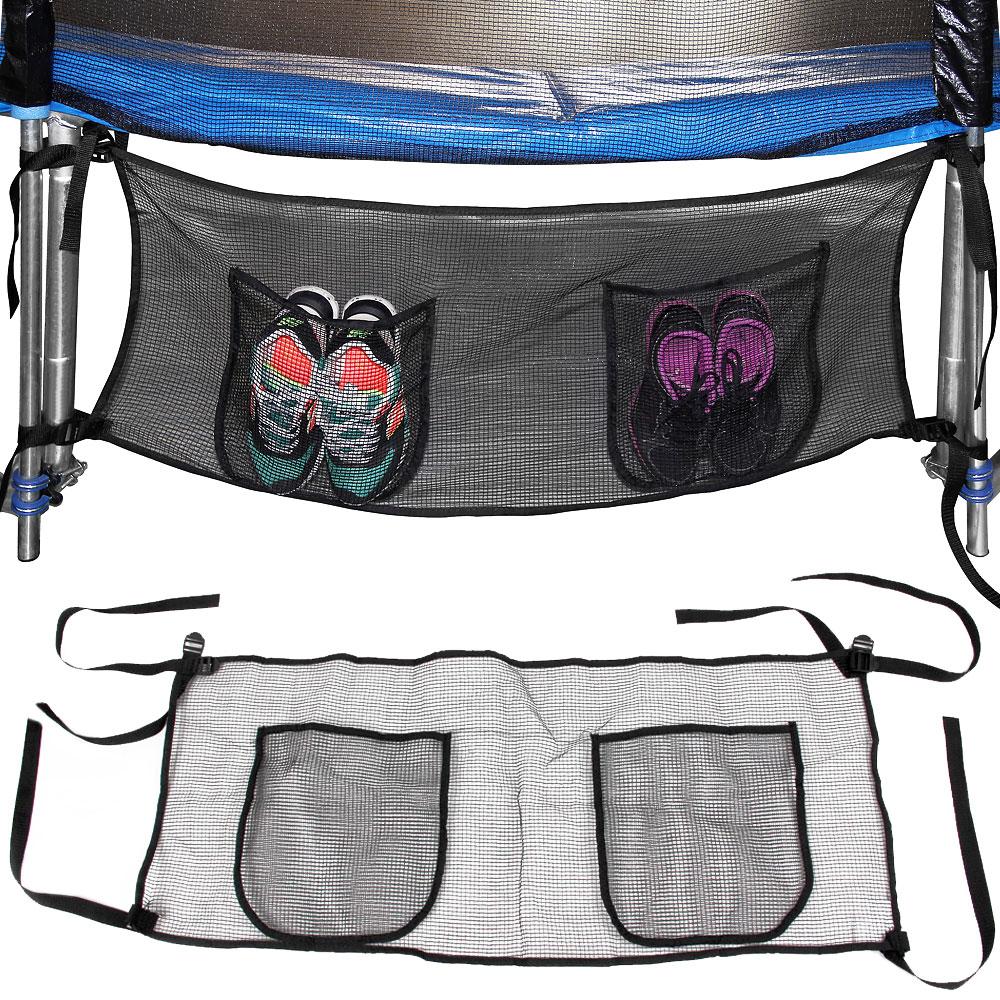 poche sac de rangement trampoline pour objets et chaussures 111x45cm noir ebay. Black Bedroom Furniture Sets. Home Design Ideas
