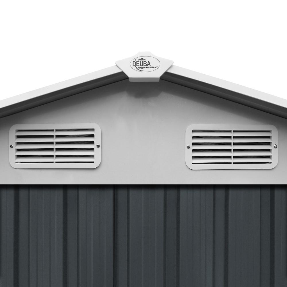 Abri de jardin en métal gris 14,65 m³ Cabane/Remise de jardin ...