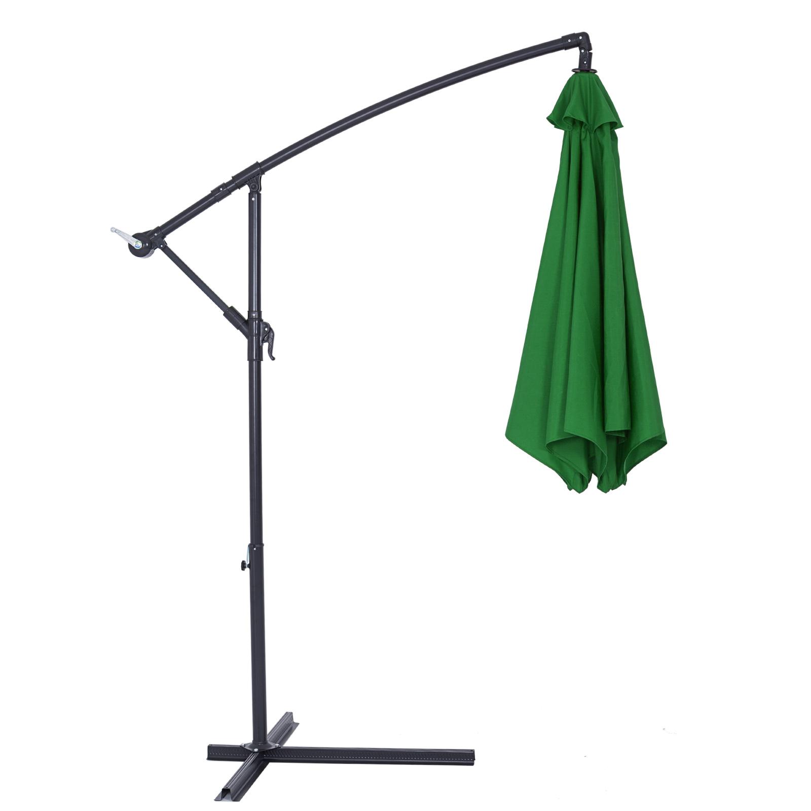 parasol aluminium pare soleil jardin terrasse balcon manivelle 330cm ebay. Black Bedroom Furniture Sets. Home Design Ideas