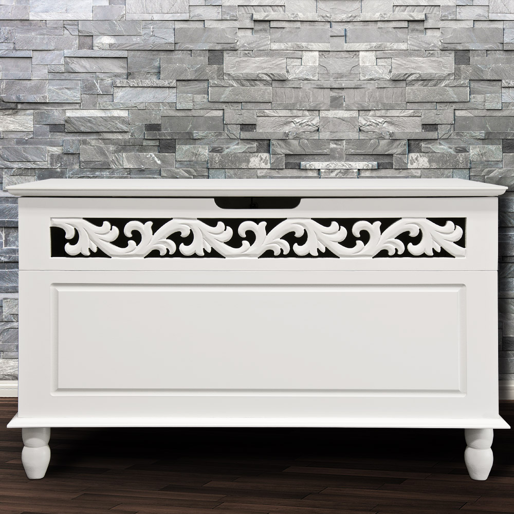 b ware truhe jersey wei tischtruhe sideboard w schetruhe kiste ebay. Black Bedroom Furniture Sets. Home Design Ideas