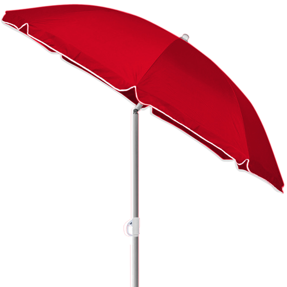 beach sun parasol 180cm tilt red garden patio umbrella steel balcony shade ebay. Black Bedroom Furniture Sets. Home Design Ideas