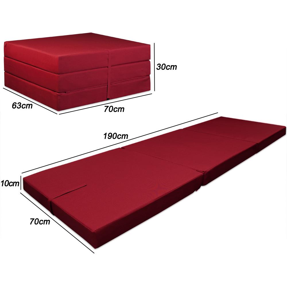 matelas pliant lit 190x70x10cm rembourrage mousse haute gamme pliable en 3 ebay. Black Bedroom Furniture Sets. Home Design Ideas