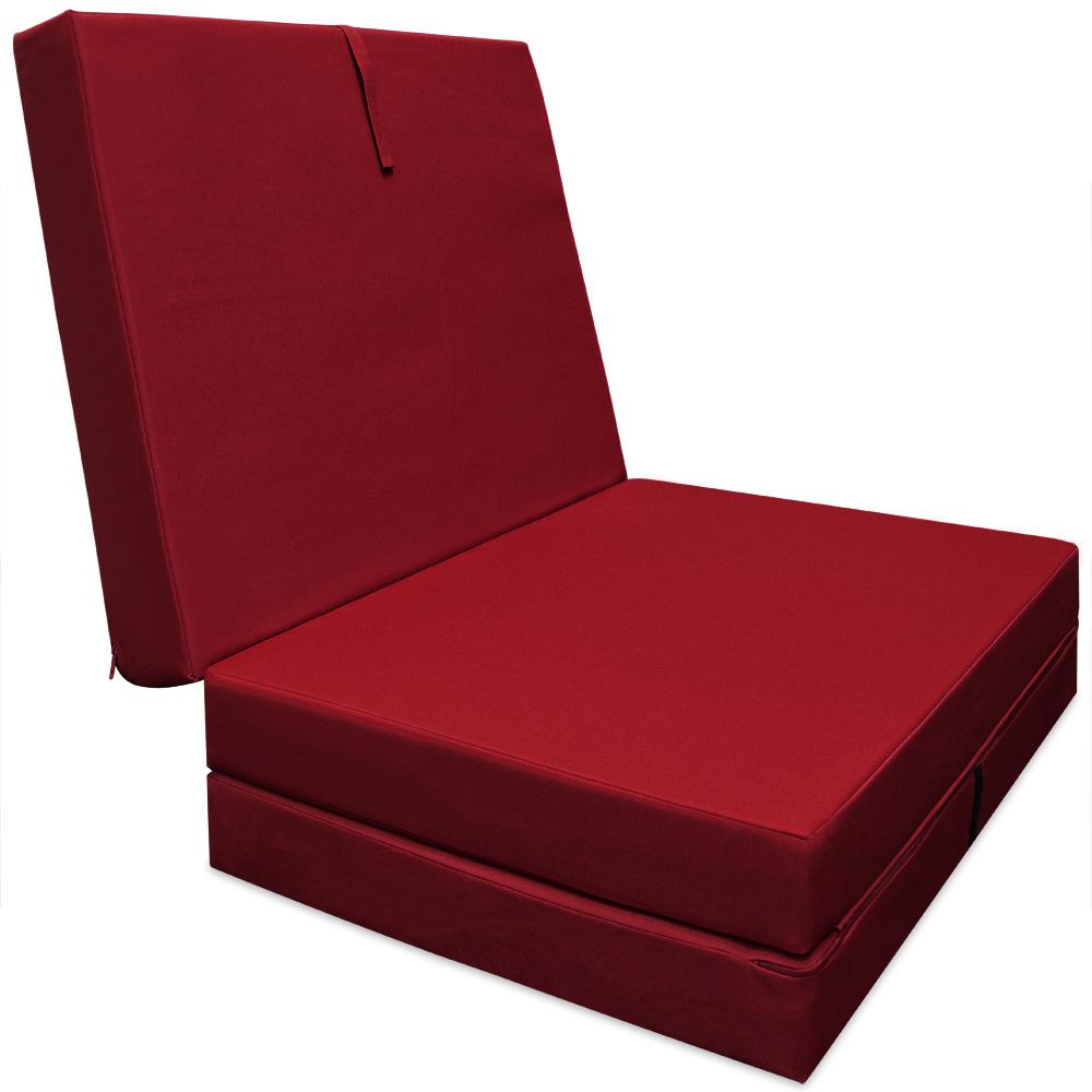 chauffeuse 190x70x10cm rembourrage mousse haute gamme pliable en 3 ebay. Black Bedroom Furniture Sets. Home Design Ideas