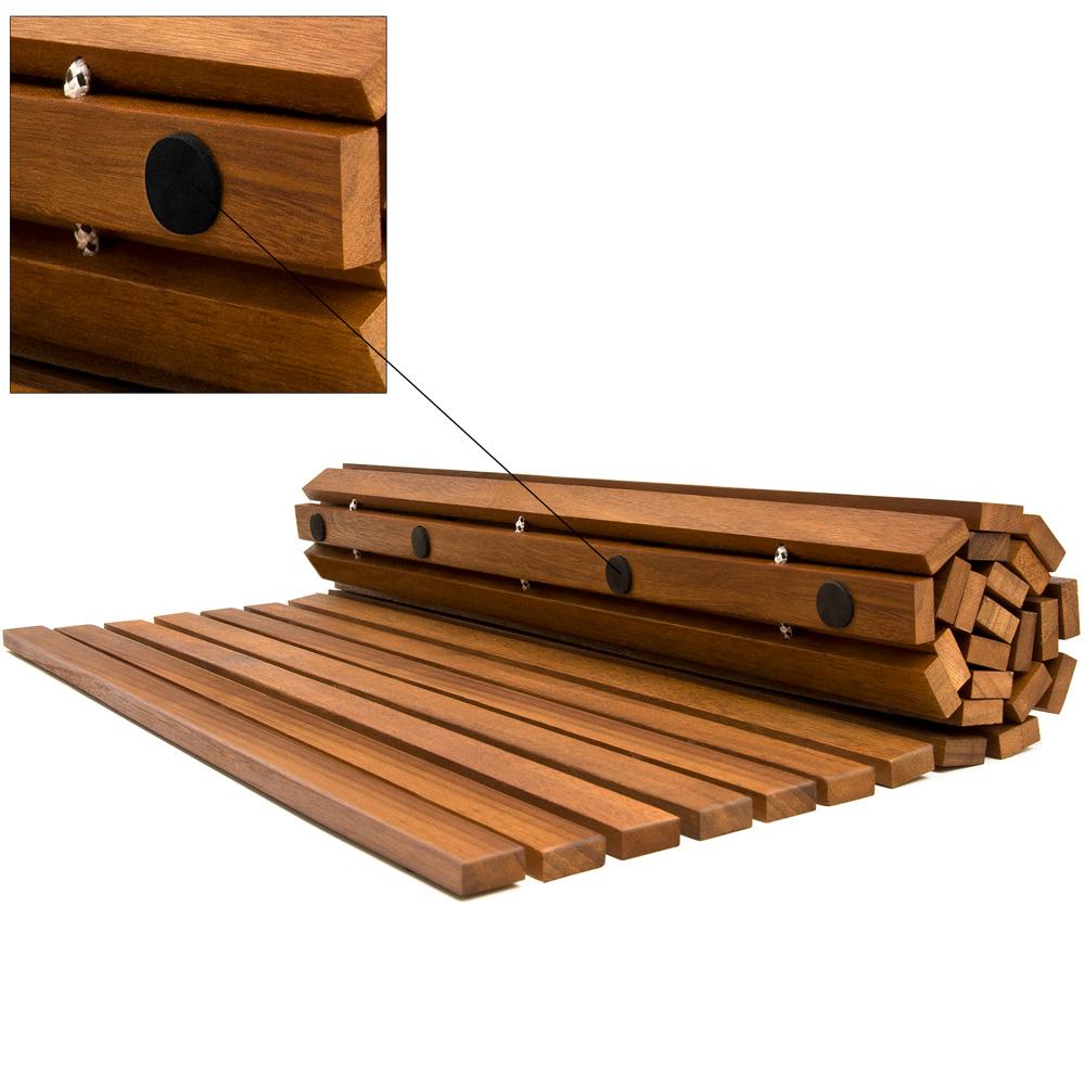 Bath Mat Wooden Acacia Bathroom Duck Board Rectangular