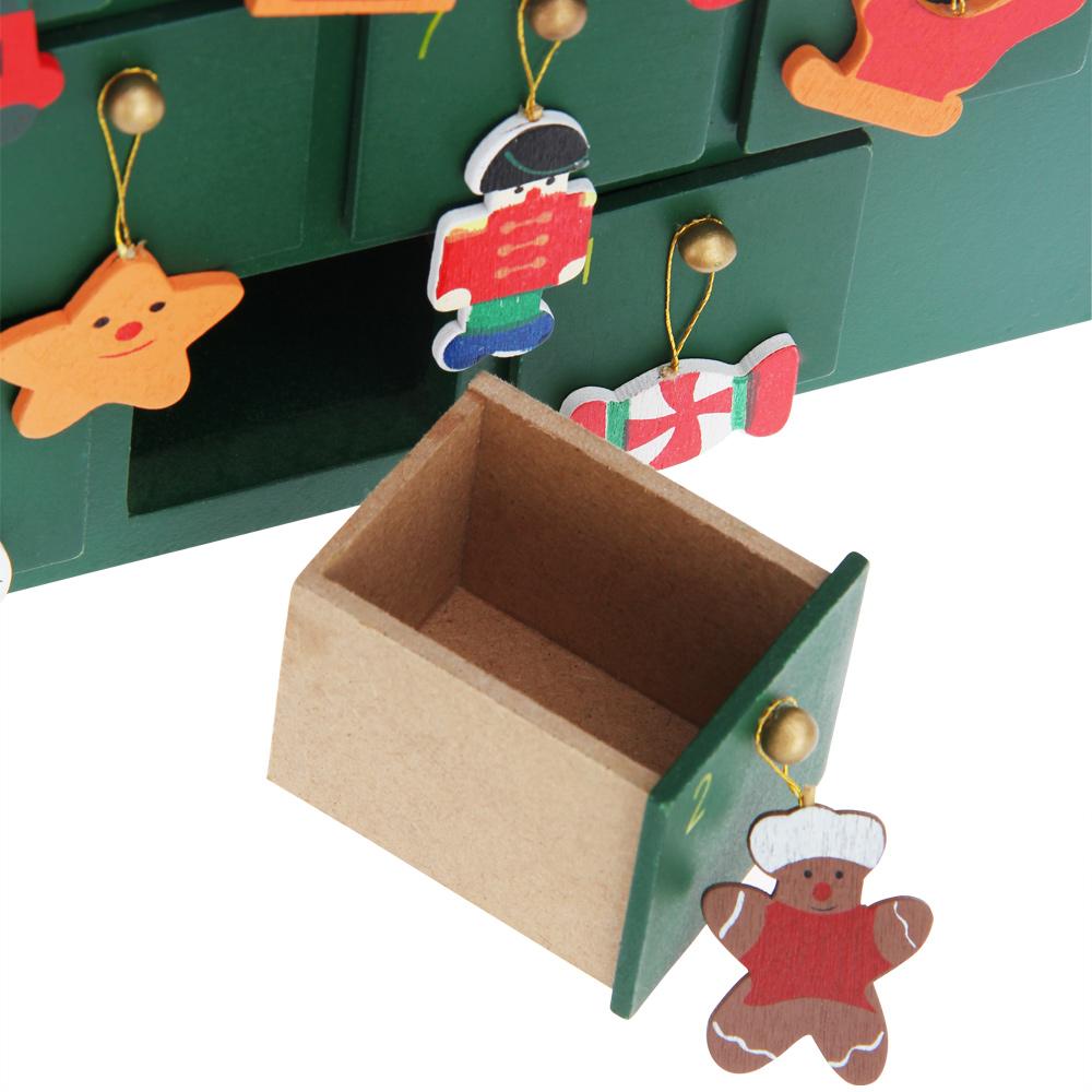 adventskalender selbst bef llen weihnachtsmann weihnachtsbaum holz kalender ebay. Black Bedroom Furniture Sets. Home Design Ideas