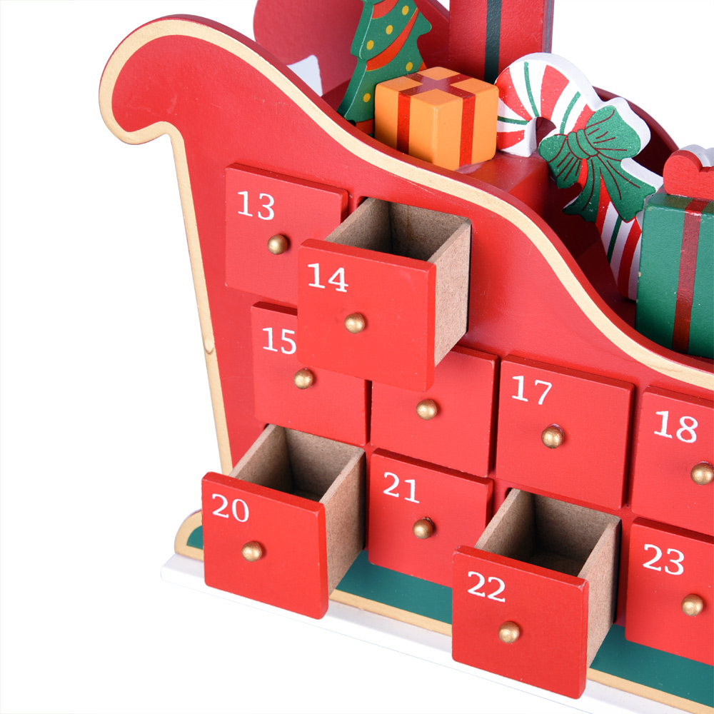 adventskalender schlitten bef llen holz weihnachtskalender. Black Bedroom Furniture Sets. Home Design Ideas