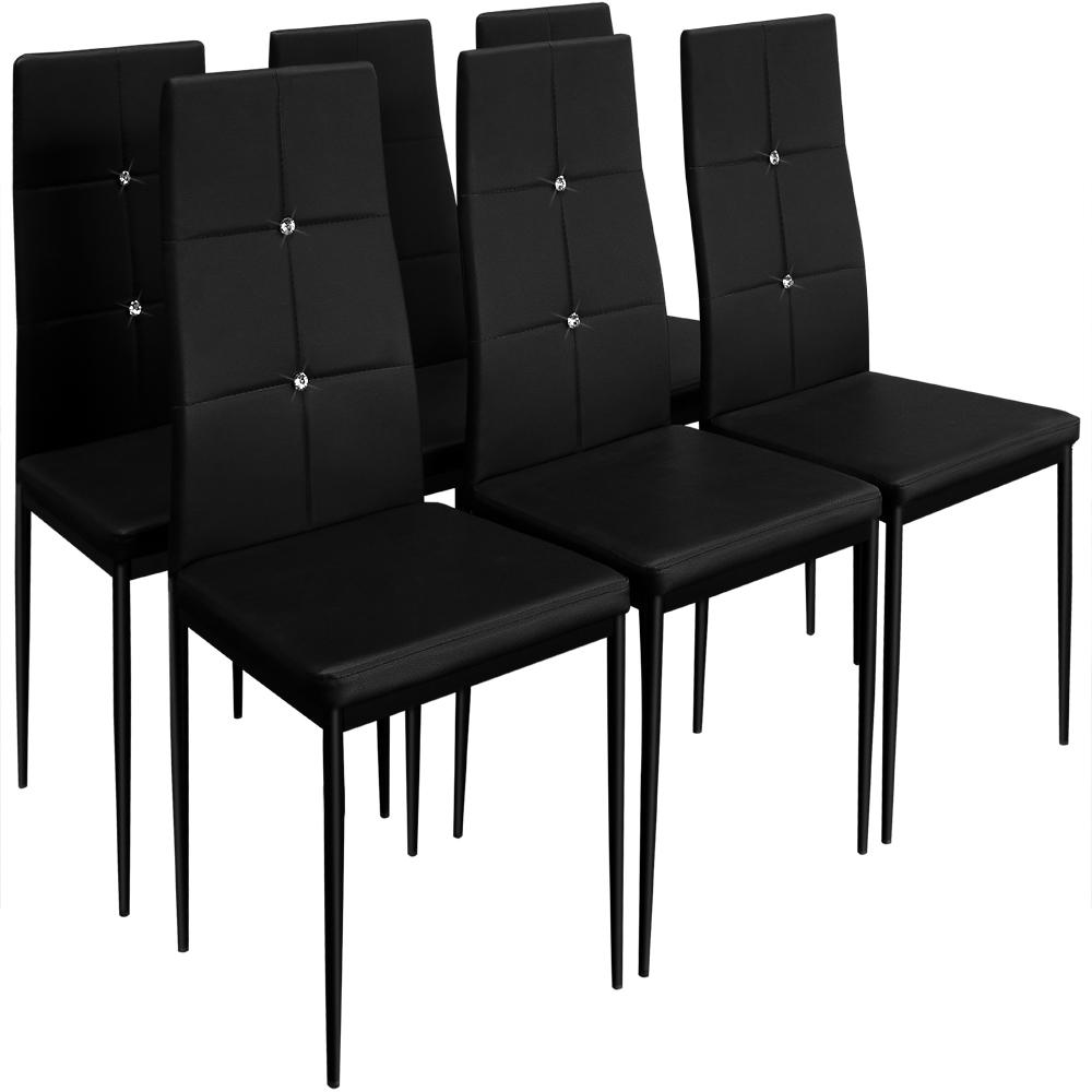 6x deuba esszimmerst hle esszimmerstuhl esszimmer stuhl for Esszimmerstuhl schwarz
