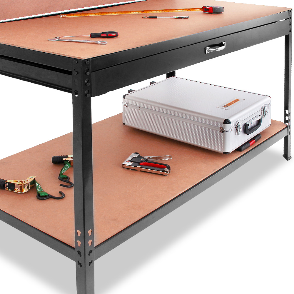 tabli table de travail plan travail paroi perfor e tiroir atelier meuble outil ebay. Black Bedroom Furniture Sets. Home Design Ideas