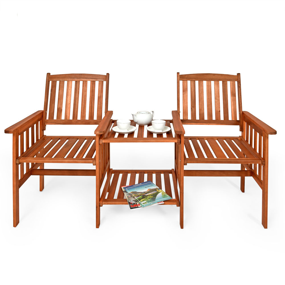 gartenbank akazie bank sitzbank holz mit tisch parkbank. Black Bedroom Furniture Sets. Home Design Ideas