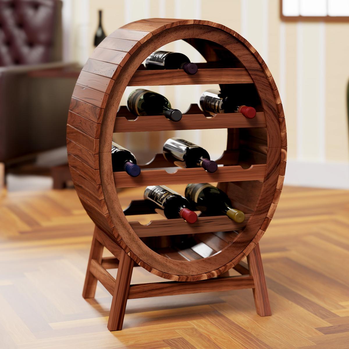88103913 Weinregal für bis zu 12 Flaschen im stilvollen Design