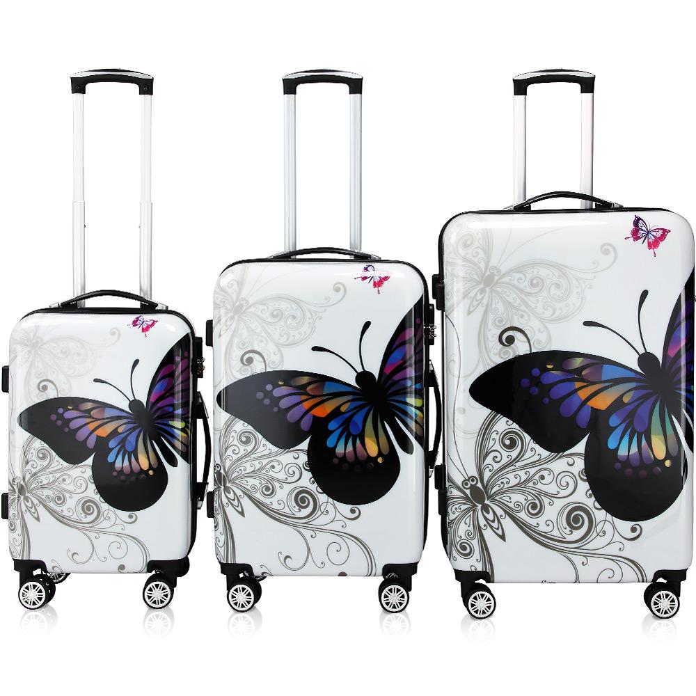 88104007 Butterfly Hartschalenkofferset