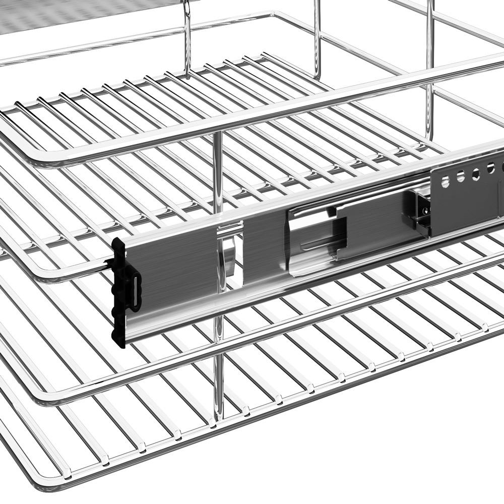 Pull Out Drawer Kitchen Cabinet Specs: Pull Out Drawer Wire Basket Retrofit Organizer Kitchen