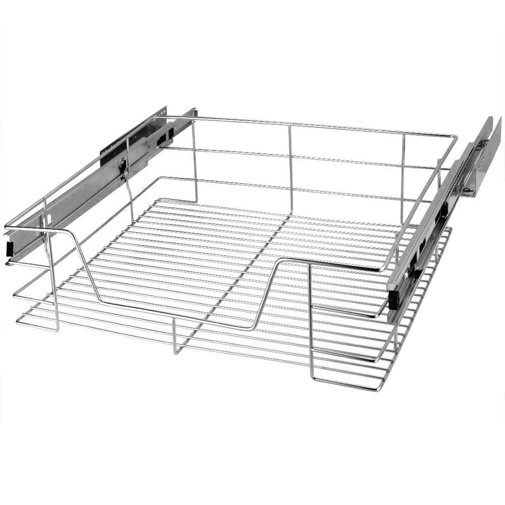 Pull Out Drawer Wire Basket Retrofit Organizer Kitchen