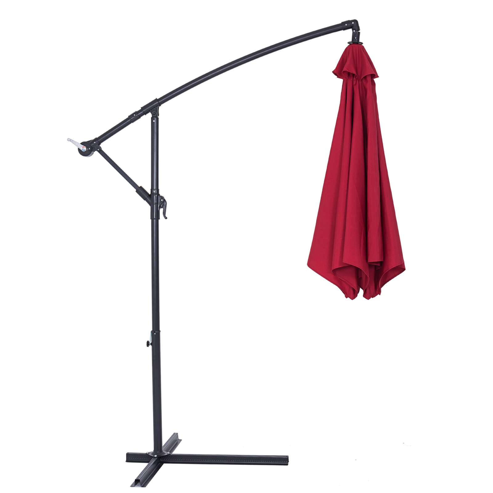 parasol aluminium pare soleil jardin terrasse balcon manivelle 300cm ebay. Black Bedroom Furniture Sets. Home Design Ideas