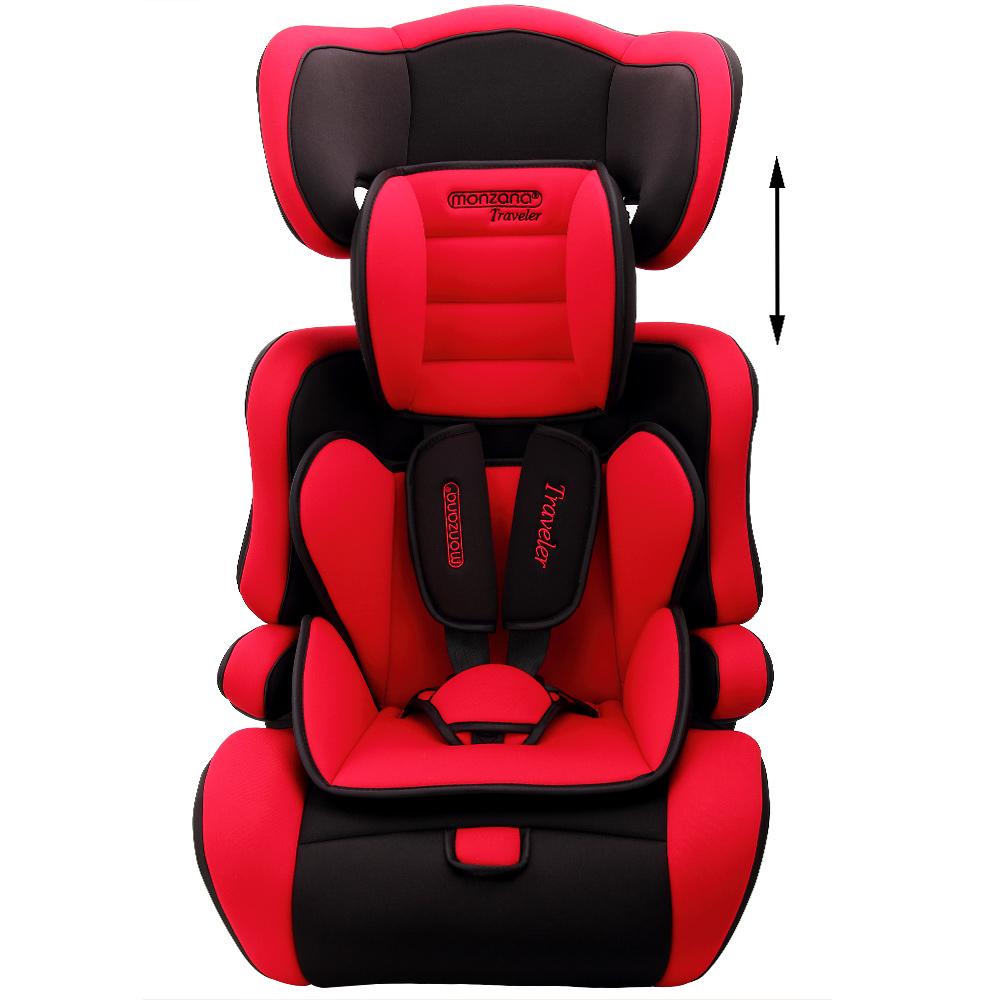 monzana autokindersitz autositz kinderautositz kinder 9 36 kg gruppe 1 2 3 rot ebay. Black Bedroom Furniture Sets. Home Design Ideas