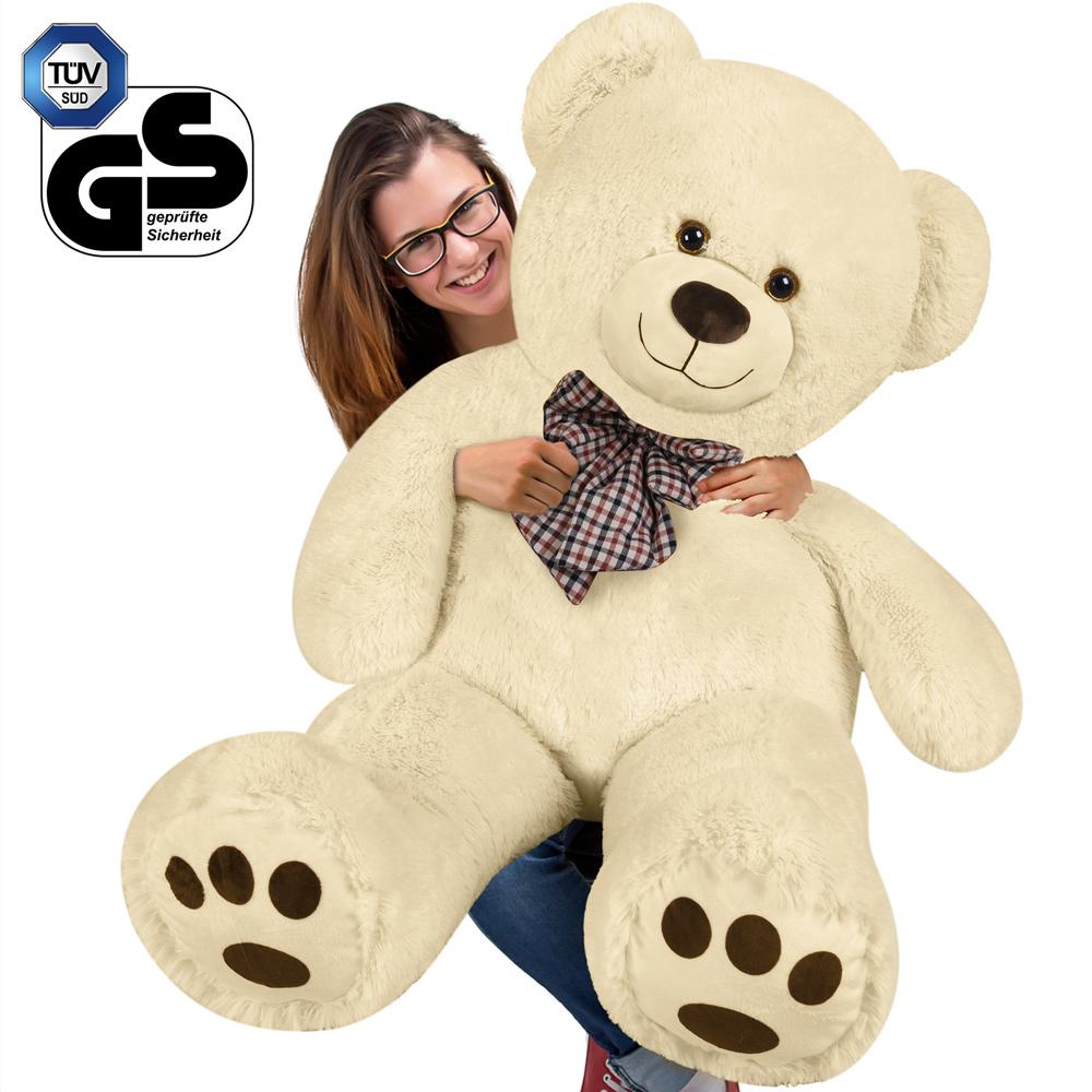 XXL Teddybär Plüsch Kuschel Stoff Plüsch Riesen Teddy Bär Groß Weiß ...