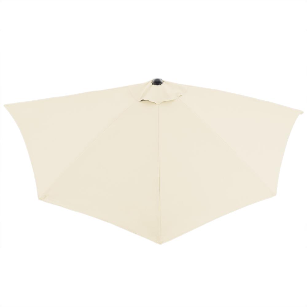 Sonnenschirm Balkonschirm Terrassenschirm Schirm halbrund Ø 2,7m UV-Schutz 40+