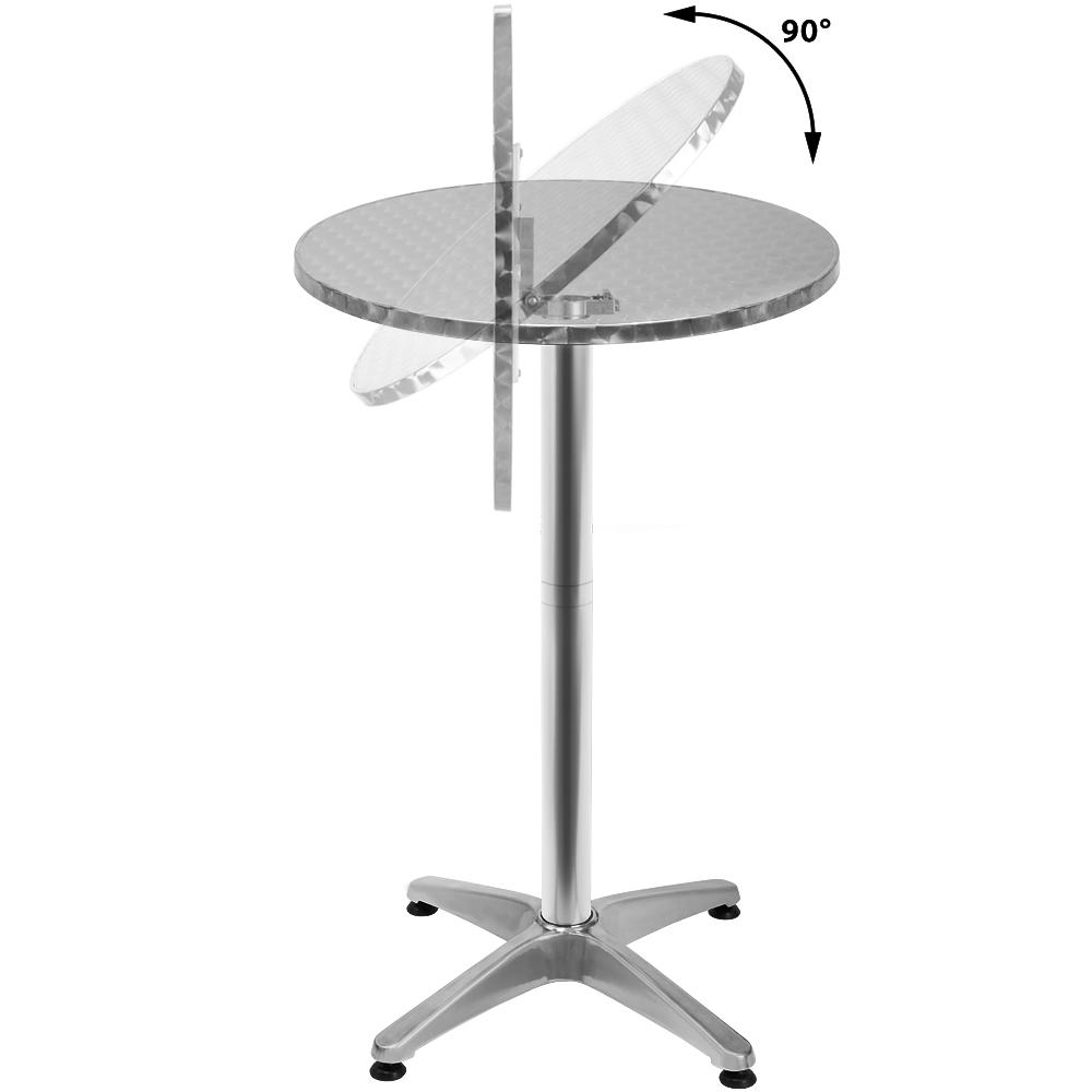 b ware alu stehtisch klappbar bistrotisch bartisch h henverstellbar alutisch ebay. Black Bedroom Furniture Sets. Home Design Ideas