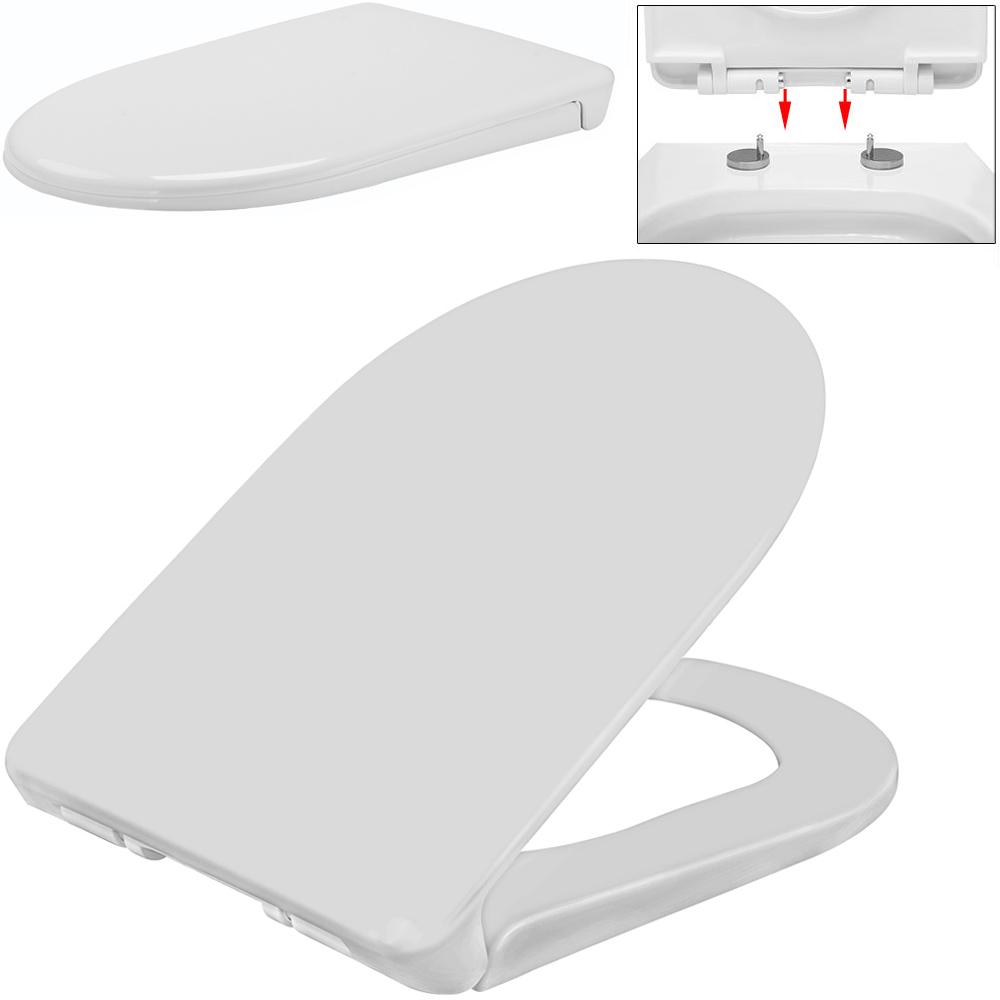 wc sitz toilettensitz toilettendeckel klodeckel klobrille absenkautomatik ebay. Black Bedroom Furniture Sets. Home Design Ideas